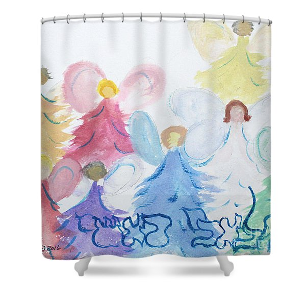Archangels    Malchei Roshei Shower Curtain