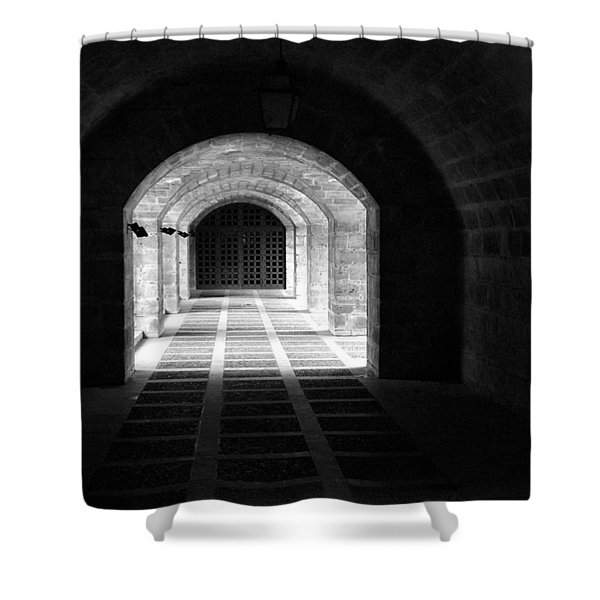 Arched Hallway In Palma Shower Curtain
