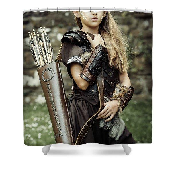 Archer Warrior Shower Curtain