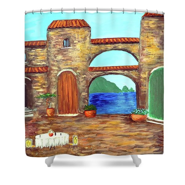 Arches Of Amalfi  Shower Curtain