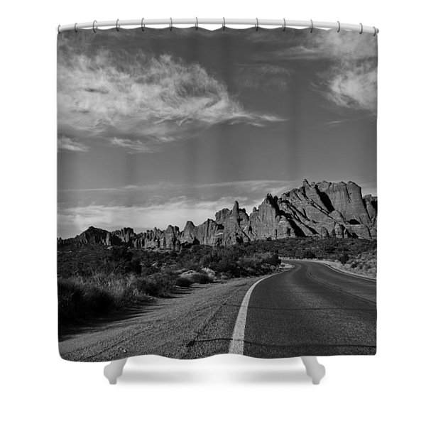 Arches Road Shower Curtain
