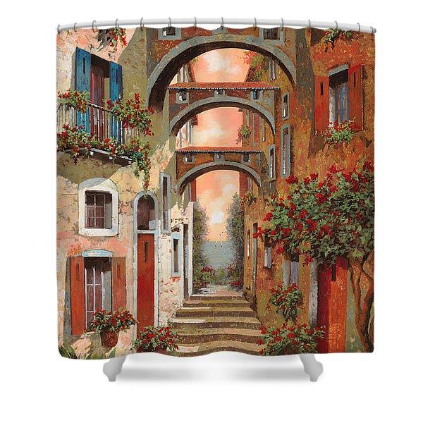 Archetti In Rosso Shower Curtain