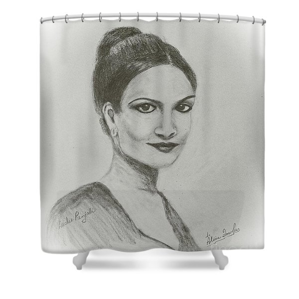 Archie Panjabi Shower Curtain