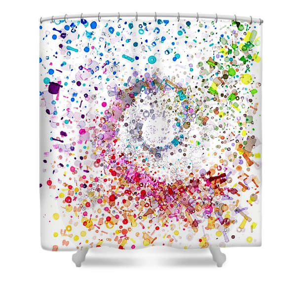 Archimedes Chiral Shower Curtain