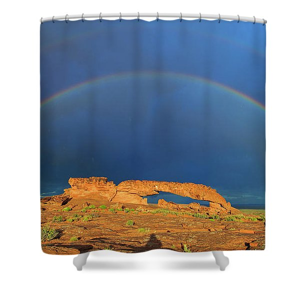 Arching Over Shower Curtain