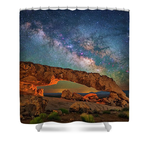 Arching Over The Arch Shower Curtain