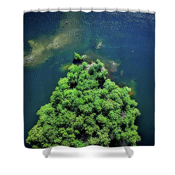 Archipelago Island - Aerial Photography Shower Curtain