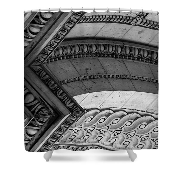 Architectural Details Of The Arc Shower Curtain