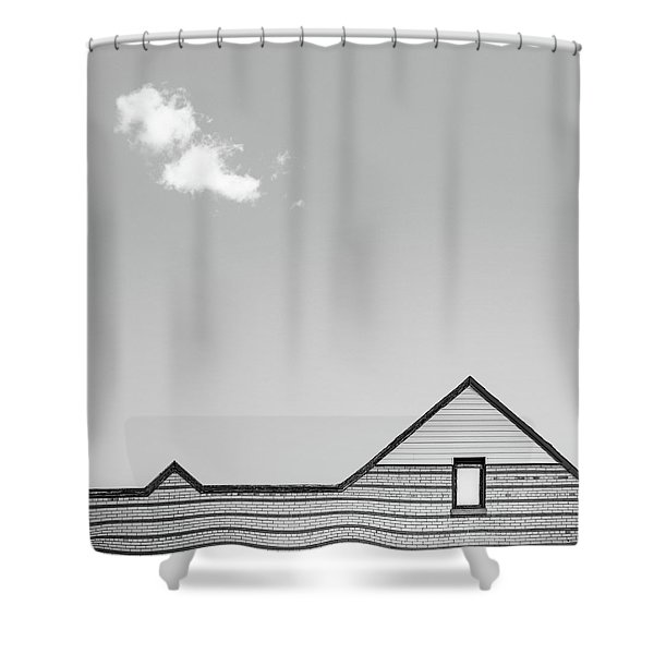 Architectural Ekg Shower Curtain