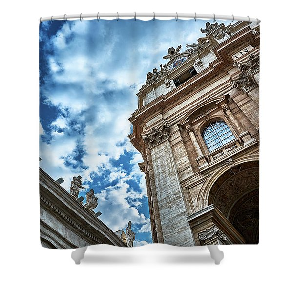 Architectural Majesty On Top Of The Sky Shower Curtain