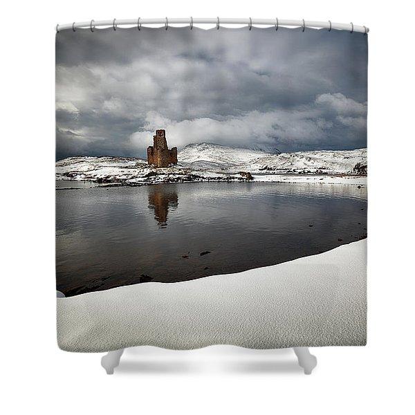 Ardvreck Castle In Winter Shower Curtain