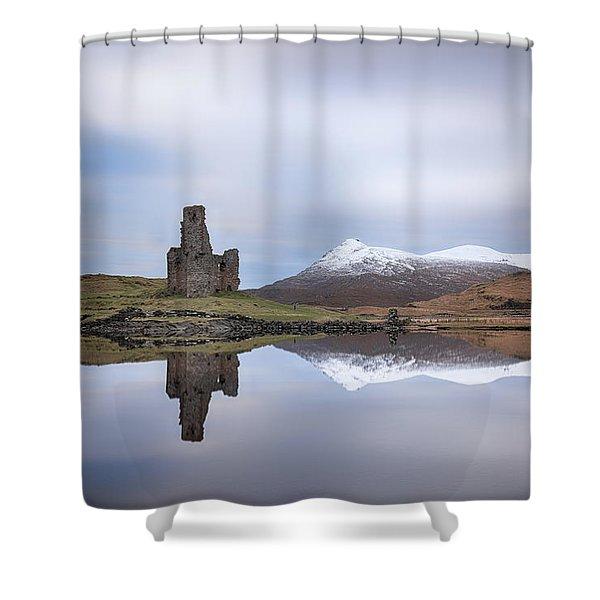 Ardvreck Castle Reflection Shower Curtain
