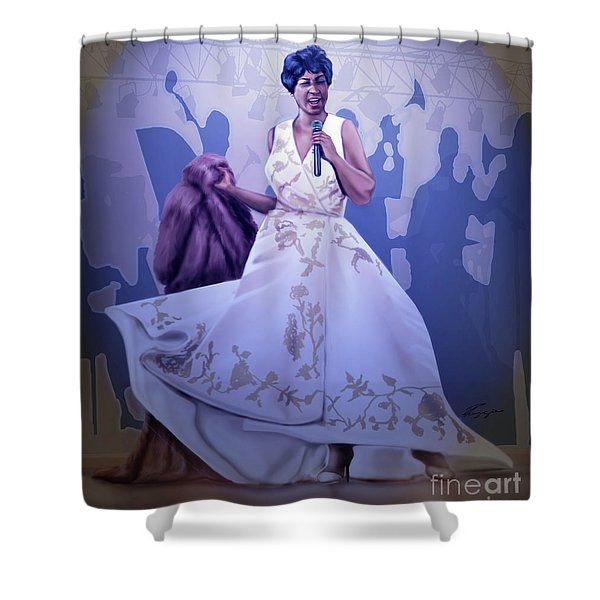 Aretha Franklin Rock Steady Shower Curtain