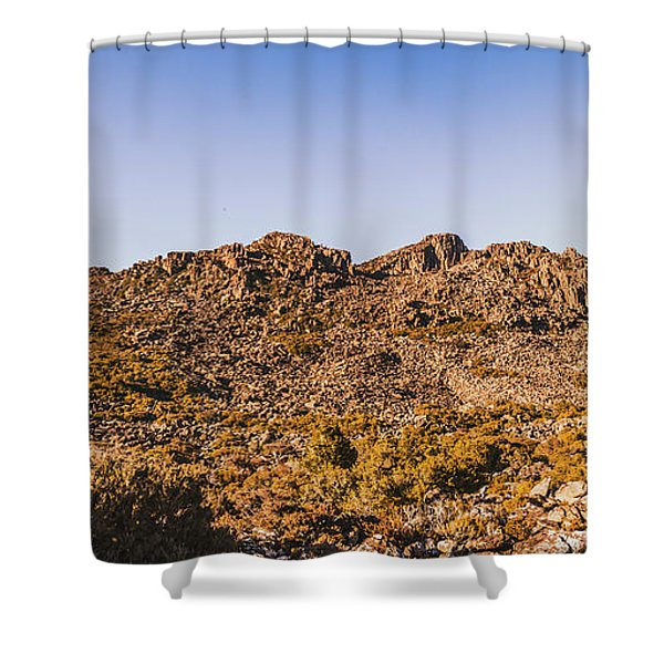 Arid Australian Panoramic Shower Curtain