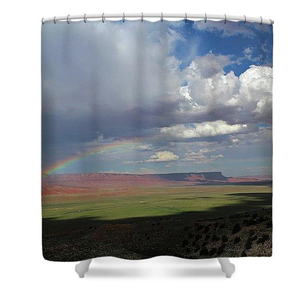 Arizona Double Rainbow Shower Curtain