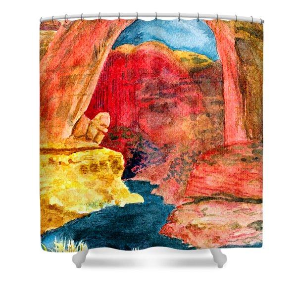 Arizona Rainbow Shower Curtain