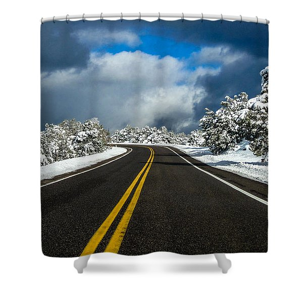 Arizona Snow Road Shower Curtain