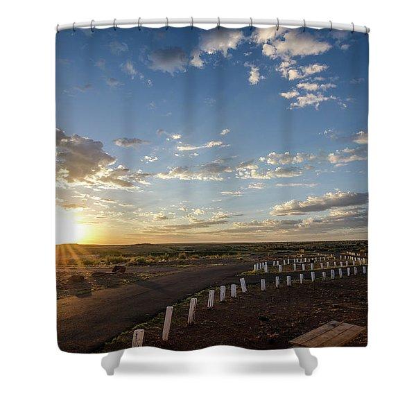 Arizona Sunrise Shower Curtain