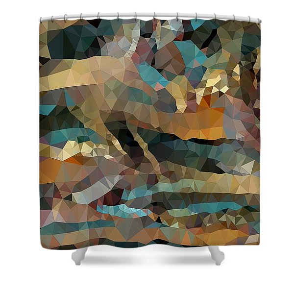 Arizona Triangles Shower Curtain