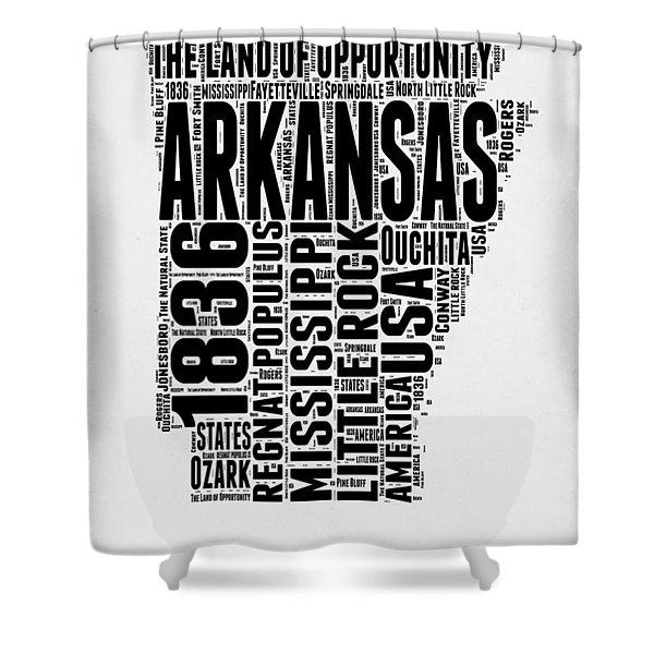 Arkansas Word Cloud 2 Shower Curtain