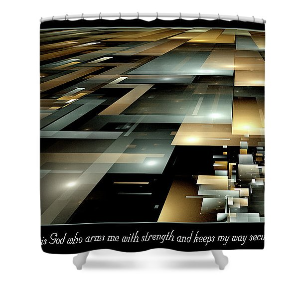 Arms Me With Strength Shower Curtain