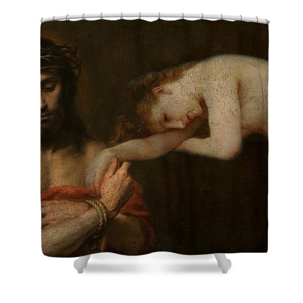Arms Of Mary  Shower Curtain