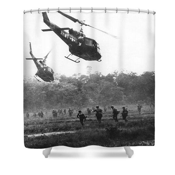 Army Airborne In Vietnam Shower Curtain