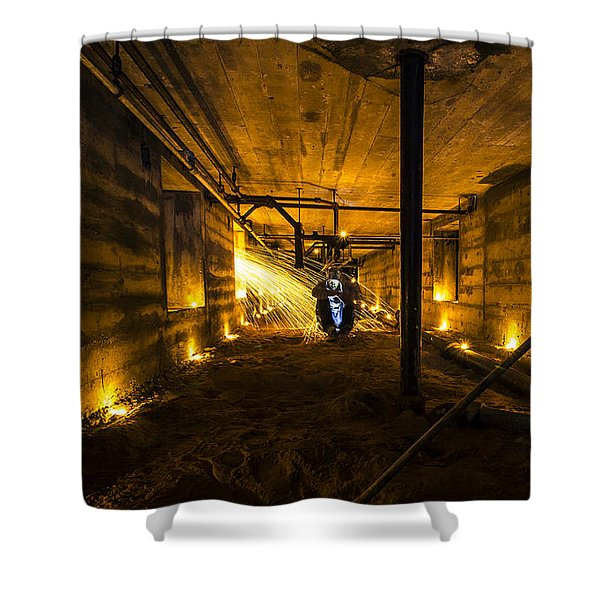 Army Bunker Shower Curtain