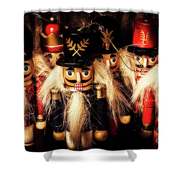 Army Of Wooden Soldiers Shower Curtain