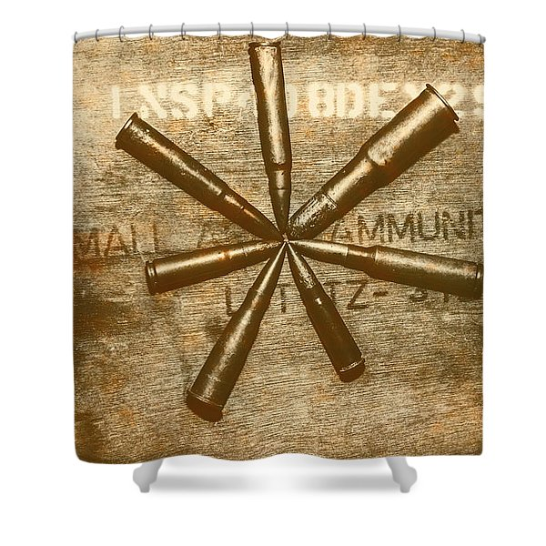 Army Star Bullets Shower Curtain