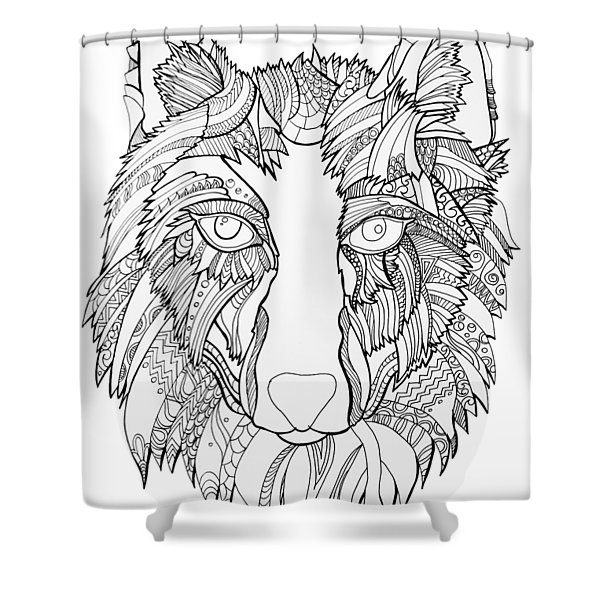 Arnou The Wolf Shower Curtain