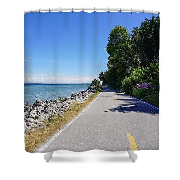 Around Mackinac Island Shower Curtain