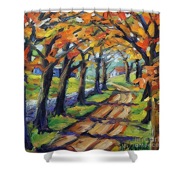 Around The Bend By Prankearts Shower Curtain