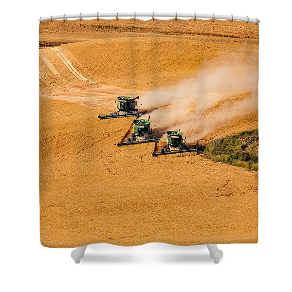 Shower Curtain featuring the photograph Around The Bend by Mary Jo Allen