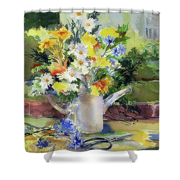 Cut Flowers Shower Curtain