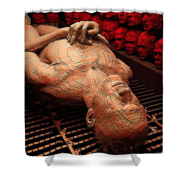 Arrival Of The Damned Shower Curtain