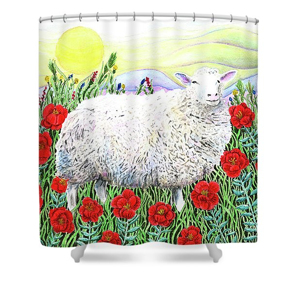 Arrival Of The Hummingbirds Shower Curtain