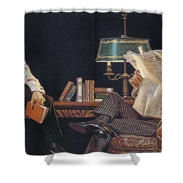 Arrow Shirt Collar Ad, 1914 Shower Curtain