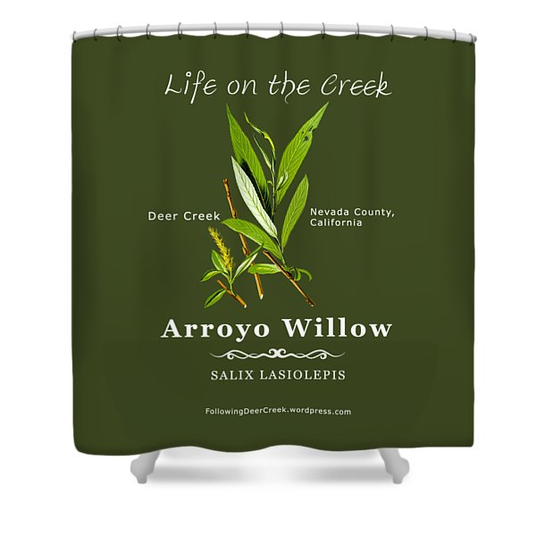 Arroyo Willow - Color Shower Curtain