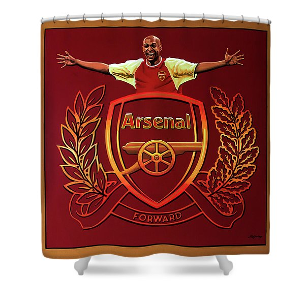 Arsenal London Painting Shower Curtain