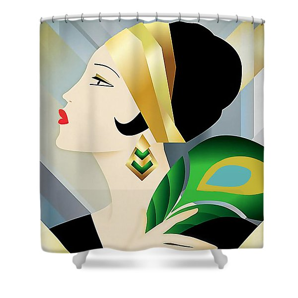 Roaring 20s Flapper Shower Curtain