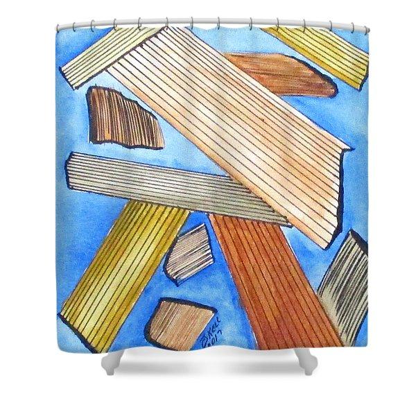 Art Doodle No. 24 Shower Curtain