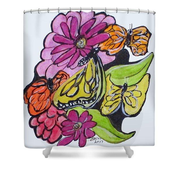 Art Doodle No. 3 Shower Curtain