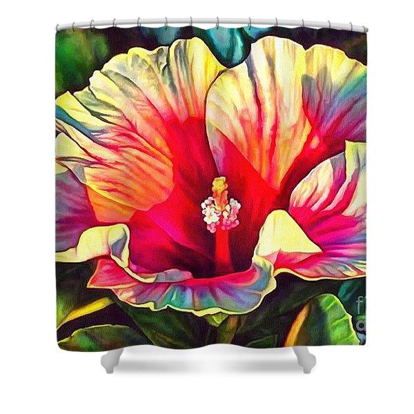 Art Floral Interior Design On Canvas Shower Curtain