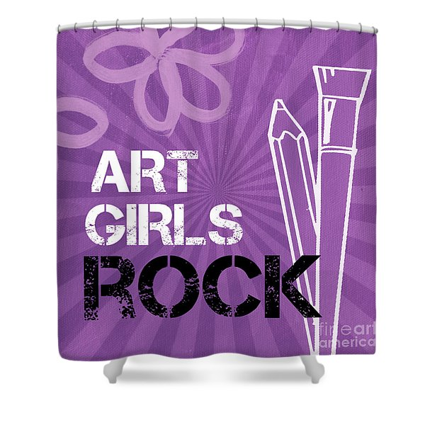 Art Girls Rock Shower Curtain