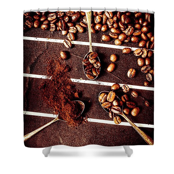 Art In Coffee Process  Shower Curtain