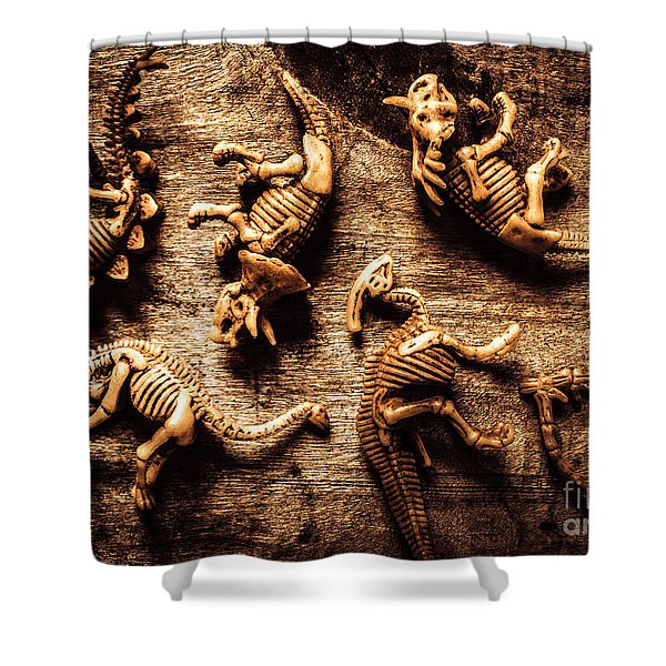 Art In Palaeontology Shower Curtain