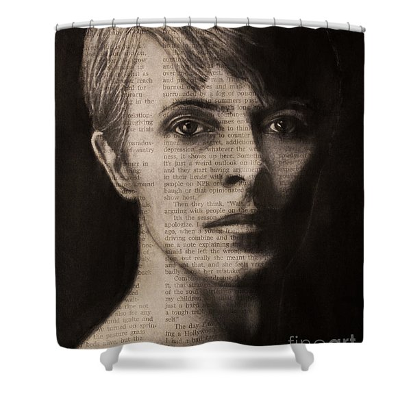 Art In The News 78-bowie Shower Curtain