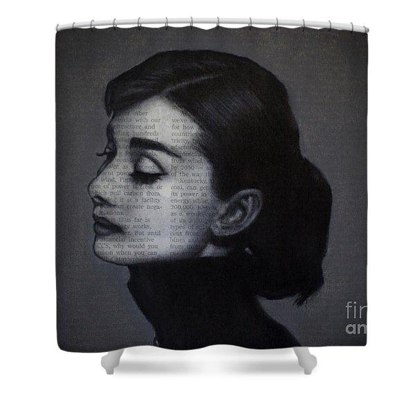 Art In The News 98-audrey Hepburn Shower Curtain