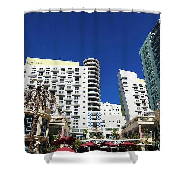 Art Nouveau At Miami Beach Shower Curtain